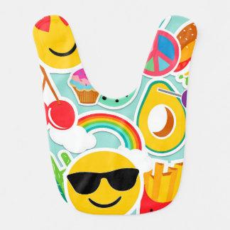 Babero Modelo brillante del pegatina de Emoji