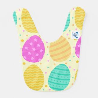 Babero Modelo colorido lindo de los huevos de Pascua