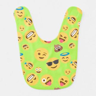 Babero Modelo divertido de Emoji (verde)