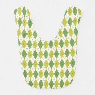 Babero Modelo geométrico verde retro de Argyle