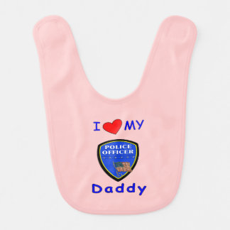 Babero Papá de la policía