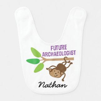 Babero personalizado arqueólogo futuro del bebé