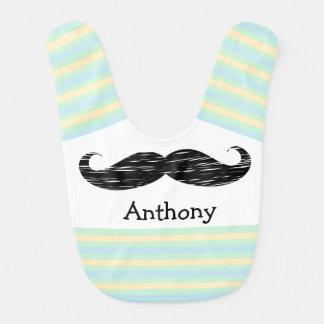 Babero personalizado bigote del bebé