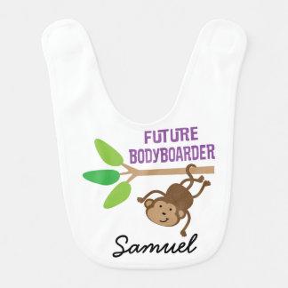 Babero personalizado Bodyboarder futuro del bebé