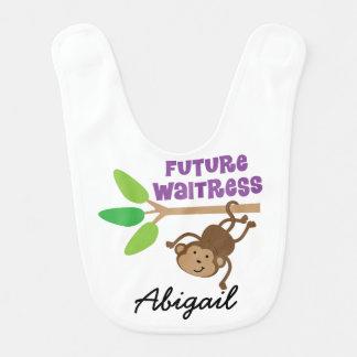 Babero personalizado camarera futura del bebé