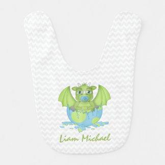 Babero personalizado del dragón del bebé