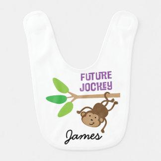 Babero personalizado jinete futuro del bebé