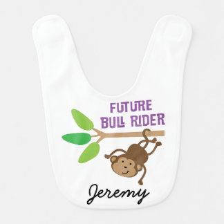 Babero personalizado jinete futuro del bebé de