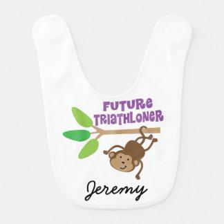 Babero personalizado Triathloner futuro del bebé
