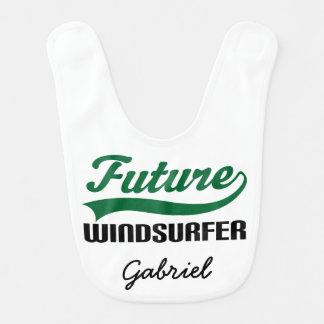Babero personalizado Windsurfer futuro del bebé