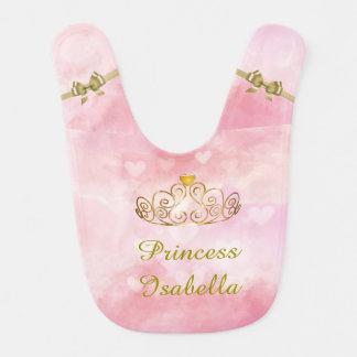 Babero Princesa personalizada Isabel Bib, añade su nombre
