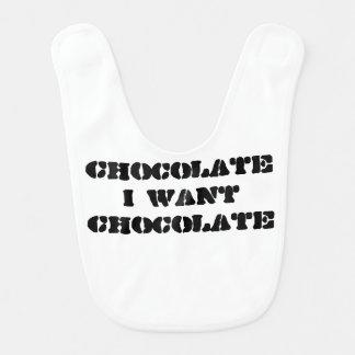 Babero Quiero el chocolate