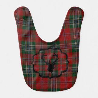 Babero Tela escocesa del rojo del navidad