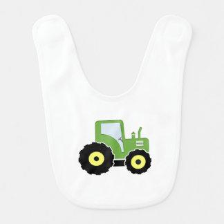 Babero Tractor verde del juguete
