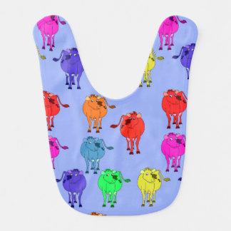 Babero Vaca linda del dibujo animado del vector