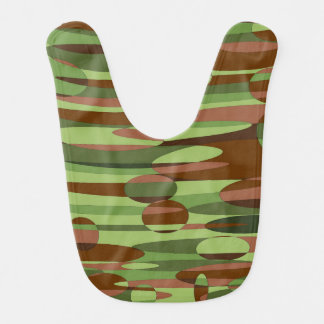 Babero verde y marrón de moda del bebé de las