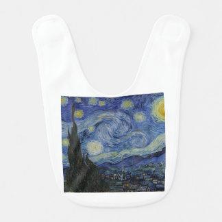 Babero Vincent van Gogh - noche estrellada. Pintura del