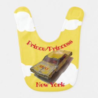 Babero Vuelo del taxi del amarillo de la caja de cerillas
