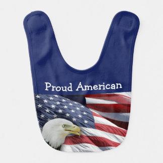 Baberos americanos orgullosos del bebé o del chica