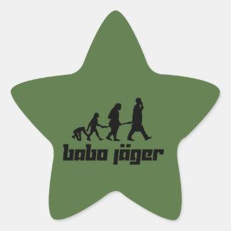 Babo Jäger Pegatina En Forma De Estrella