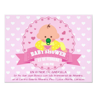 Baby Shower Her Invitación 10,8 X 13,9 Cm