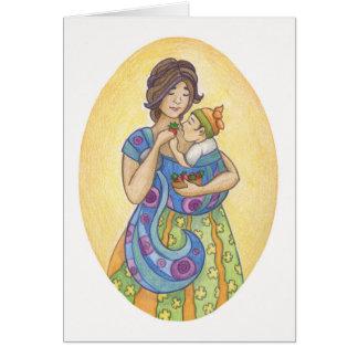 Babywearing: Tarjeta de felicitación de la madre y