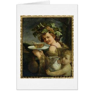 Bacchus (aceite en lona) tarjeta de felicitación