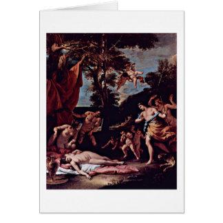 Bacchus y Ariadne de Sebastiano Ricci Tarjeta De Felicitación