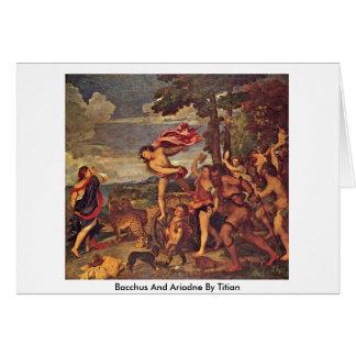 Bacchus y Ariadne por Titian Tarjeta De Felicitación