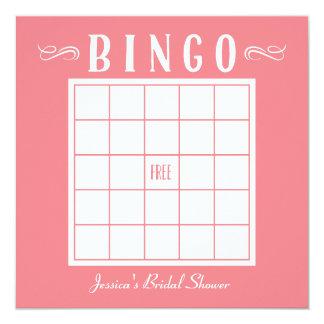 Bachelorette, bebé o tarjetas nupciales del bingo invitación 13,3 cm x 13,3cm