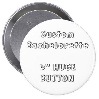 "Bachelorette de encargo 4"" botón en blanco F2 de"