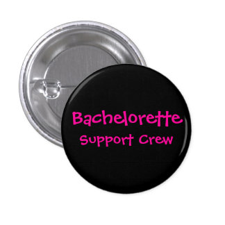 Bachelorette, equipo de la ayuda (fondo negro) chapa redonda 2,5 cm