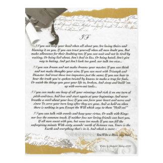 Bachillerato de la graduación SI por Rudyard Kipli Tarjeta Postal