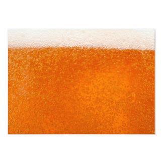 backround de la cerveza invitación 12,7 x 17,8 cm