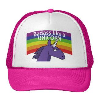 ¡Badass tiene gusto de un unicornio! Gorro De Camionero