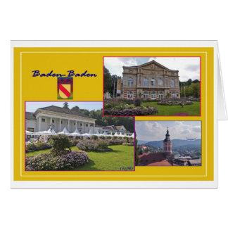 Baden-Baden postal Tarjeton