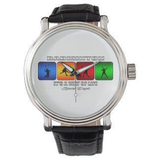 Bádminton fresco es una manera de vida reloj de pulsera