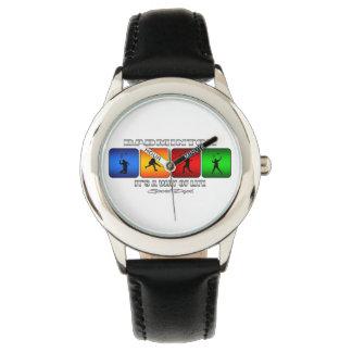 Bádminton fresco es una manera de vida relojes de pulsera