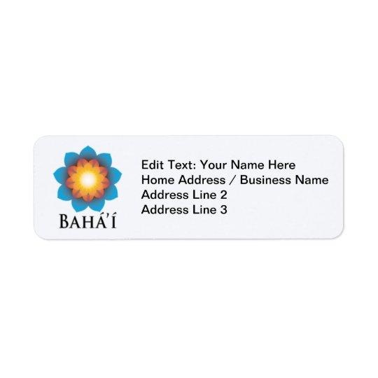 Bahá'í Etiquetas De Remite