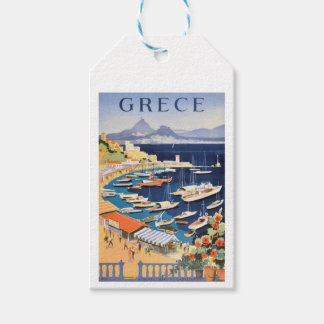 Bahía 1955 de Grecia Atenas del poster del viaje Etiquetas Para Regalos