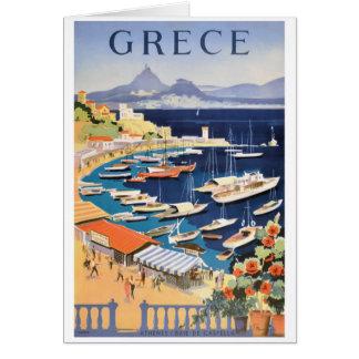 Bahía 1955 de Grecia Atenas del poster del viaje Tarjeta