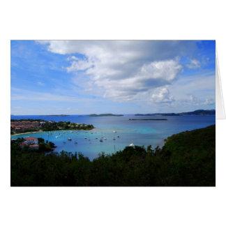 Bahía de Cruz, St. John, Islas Vírgenes de los E.E Felicitacion
