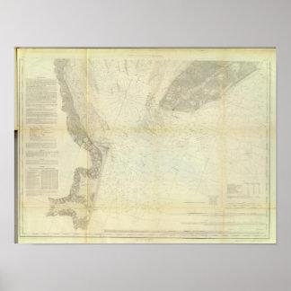 Bahía de Delaware, río 1 Póster