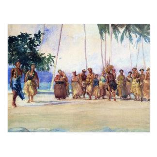"""Bahía de Fagaloa, Samoa, 1890"" - postales de Juan"
