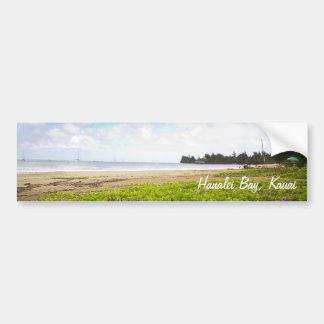 Bahía de Hanalei, impresión de Kauai Hawaii Pegatina Para Coche