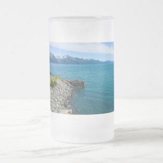 Bahía de la resurrección taza de cristal esmerilado