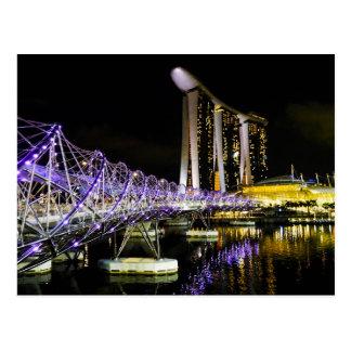 Bahía del puerto deportivo, Singapur - postal