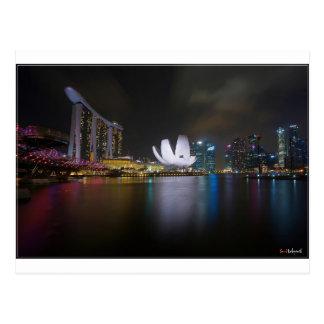 Bahía del Singapur-Puerto deportivo Tarjetas Postales
