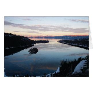 Bahía esmeralda, tarjeta del lago Tahoe