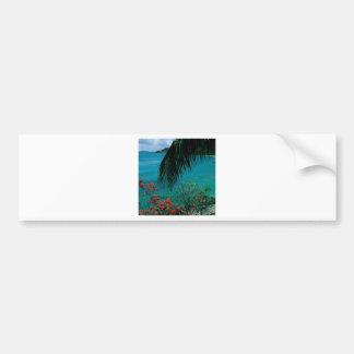Bahía tropical Bequia de la amistad de la isla Etiqueta De Parachoque